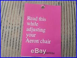 Herman Miller Aeron Chair Size A. Titanium Smoke