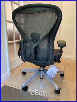 Herman Miller Aeron Chair Size B 2018 Model Remastered New RRP £1300 CHROME