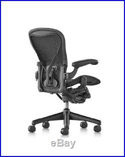 Herman Miller Aeron Chair, Size B, All Features, Plus Adjustable Posturefit