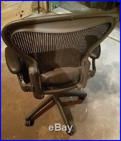 Herman Miller Aeron Chair Size B Blue with lumbar support