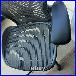 Herman Miller Aeron Chair Size B Fully Loaded With PostureFit With Gray Mesh