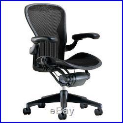 Herman Miller Aeron Chair Size B Medium Fully Adjustable Graphite Frame