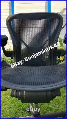 Herman Miller Aeron Chair Size B Posture-Fit & Fully Loaded Excellent Condition