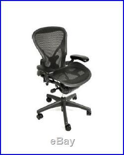 Herman Miller Aeron Chair, Size C, All Features, Plus Adjustable Posturefit