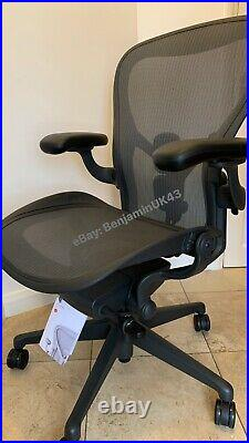 Herman Miller Aeron Chair Size C LARGE Remastered Fully Loaded With Tags