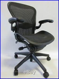 Herman Miller Aeron Chair Size C (Large) in Graphite/Black