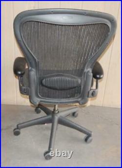 ^^ Herman Miller Aeron Chair Size Large- Black (hm-1)