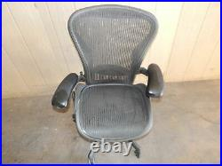 ^^ Herman Miller Aeron Chair Size Medium -black (wh-11)