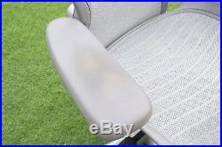 Herman Miller Aeron Chair Titanium Size B + Lumber Support Posture Fit Clean