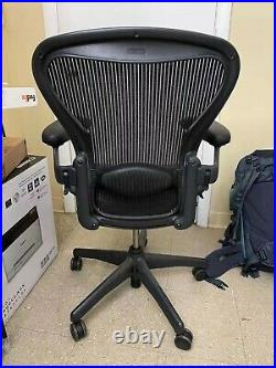 Herman Miller Aeron Chair Used Size B Fully Loaded (Black Chair)