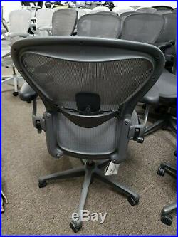 Herman Miller Aeron Chair remastered graphite color size B and C available