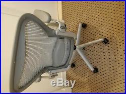 Herman Miller Aeron Chair wow Rare Grey Frame Size B Loaded Refurbished