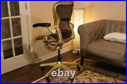 Herman Miller Aeron Classic Size B Executive chair in Stunning Gold Leaf Trim