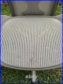 Herman Miller Aeron Classic Titanium (Silver/Grey) PostureFit Chair Size B