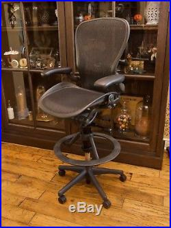 Herman Miller Aeron Drafting Stool Directors Chair Size C Upgraded LUMBAR