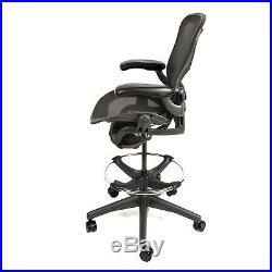 Herman Miller Aeron Drafting Stool with After Market Ring Free Warranty