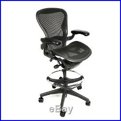 Herman Miller Aeron Drafting Stool with After Market Ring Size A Free Warranty