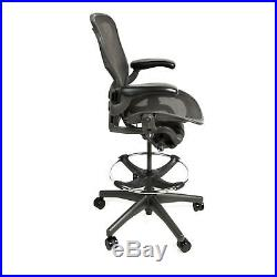 Herman Miller Aeron Drafting Stool with After Market Ring Size C Free Warranty