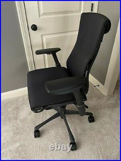 Herman Miller Aeron / Embody Office Desk Gaming Chair Black Graphite