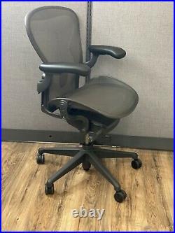 Herman Miller Aeron Ergonomic Office Chair Size B Graphite Fully Loaded