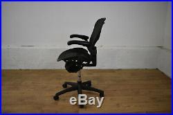 Herman Miller Aeron Ergonomic Office Swivel Chair Size B Graphite Free Ship