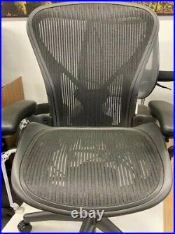 Herman Miller Aeron Flip Arm Task chair B. Fully loaded with posture fit