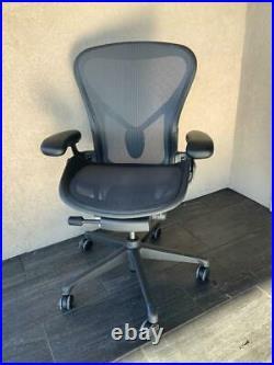Herman Miller Aeron Fully Loaded Black Mesh Chair Size B Looks New