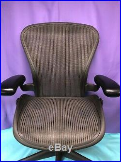 Herman Miller Aeron Graphite Desk Office Chair Adjustable Size B Small Blemish