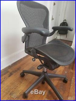 Herman Miller Aeron Graphite Mesh Office Chair Adjustable Size B