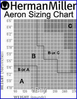 Herman Miller Aeron Highly Adjustable Graphite Carbon Waves PostureFit Medium B