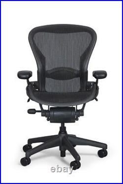 Herman Miller Aeron Highly Adjustable with PostureFit Size B Black