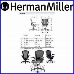 Herman Miller Aeron Home Office Desk chair posturefit Posture Fit Small Size A