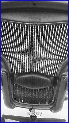 Herman Miller Aeron Mesh Adjstble Chair Blck Color With Lumber Back Support Sz B