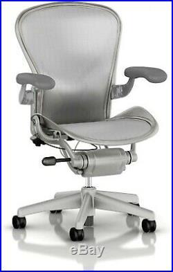Herman Miller Aeron Mesh Chair Large C fully adjustable Posture fit silver mesh