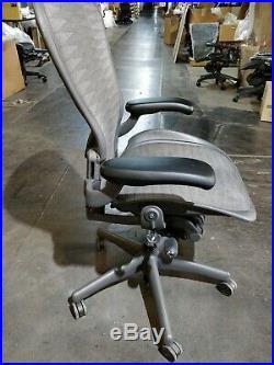 Herman Miller Aeron Mesh Desk Chair Large C fully adjustable lumbar tuxedo mesh