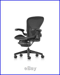 Herman Miller Aeron Mesh Desk Chair Large C fully adjustable posture fit black