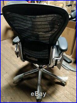 Herman Miller Aeron Mesh Desk Chair Medium Sz B fully adjust lumbar chrome NEW