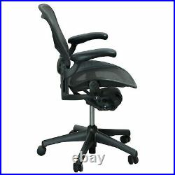 Herman Miller Aeron Mesh Desk Chair Small A fully adjustable lumbar black mesh