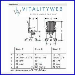 Herman Miller Aeron Mesh Desk GRAPHITE Large DESK CHAIR size C fully adj lumbar