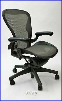 Herman Miller Aeron Mesh Office Desk Chair Medium Size B Basic free ship