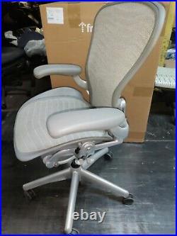 Herman Miller Aeron Mesh Office Desk Chair Medium Size B fully adj lumbar silver