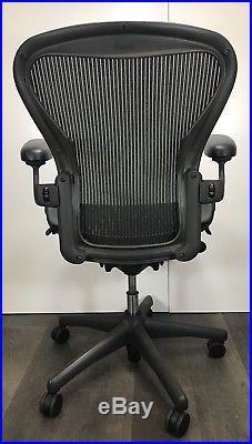 Herman Miller Aeron Mesh Office Desk Chair Medium Sz B fully adjustable 2