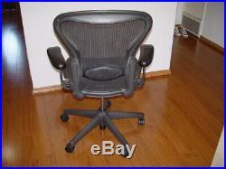 Herman Miller Aeron Mesh Office Desk Chair Medium Sz B fully adjustable lumbar