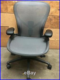 Herman Miller Aeron Office Chair Adjustable Remastered Model B Medium Size