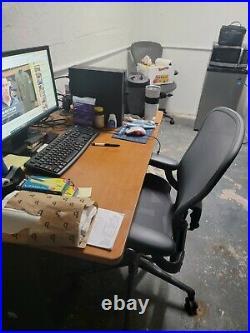 Herman Miller Aeron Office Chair Black, Size B, Adjustable