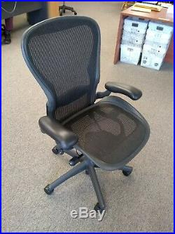 Herman Miller Aeron Office Chair, Fully Adjustable Components + Lumbar Support