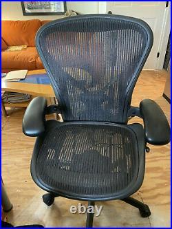 Herman Miller Aeron Office Chair Graphite, Size B. Posture fit, full tilt