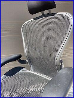Herman Miller Aeron Office Chair Size B Headrest Included