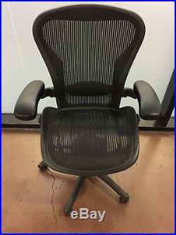 Herman Miller Aeron Office Chair Size B Medium Fully Adjustable & Lumbar Support