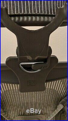 Herman Miller Aeron Office Chair Size B PostureFit Headrest Fully Loaded